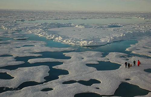 """北极海冰在2020年经历了""""历史性""""损失"""