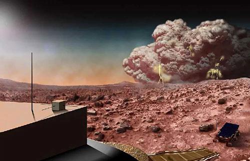 火星沙尘暴可能会引发电紫色光芒