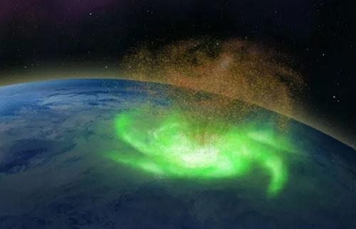 """北极首次发现""""太空飓风"""""""