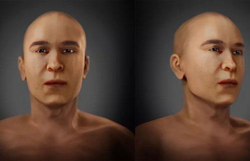 图坦卡蒙国王的父亲在面部重建中展现