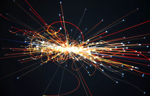 世界上最大的原子粉碎机中发现的奇怪图案