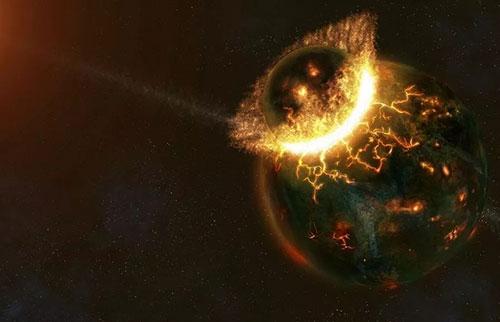 一颗原行星的残余物可能藏在地球内部