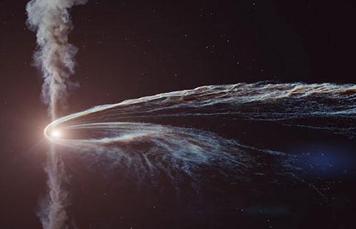 观看黑洞将史诗般的新动画中的星星撕成碎片