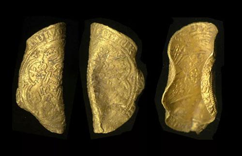 金属探测器发现黑死病时期的稀有金币
