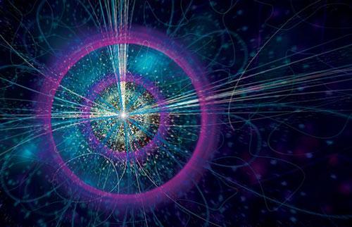 """难以捉摸的""""三角形奇点""""的第一个迹象显示粒子在飞行途中交换身份"""