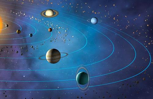 为什么太阳系中的行星在同一平面上运行?
